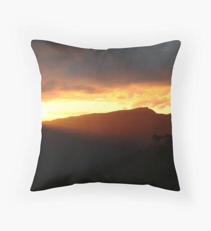 Blazing Sunset Grampians Throw Pillow