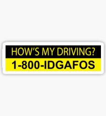 How's My Driving Sticker