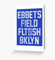 Ebbets Field - Brooklyn Greeting Card