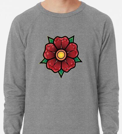Red Traditional Flower Lightweight Sweatshirt