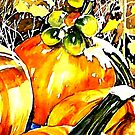 Watercolour- Pumpkin Patch by jennihei