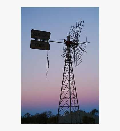 Windmill, Mt Dare Station,Outback Australia Photographic Print