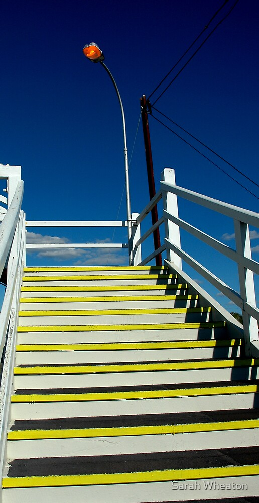 yellow steps by Sarah Wheaton