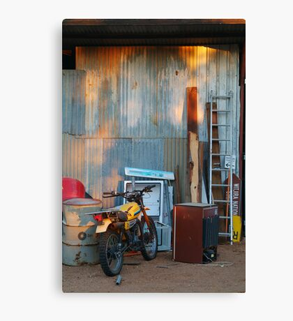 By The Shed,Outback S.A. Canvas Print