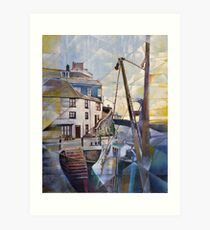 Brixham Overgang Steps Art Print