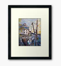 Brixham Overgang Steps Framed Print