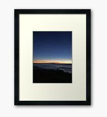 The End Of Santa Cruz Ave Framed Print
