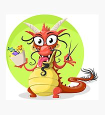 Funny chinese dragon Photographic Print