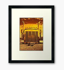Sunset Peterbilt Framed Print