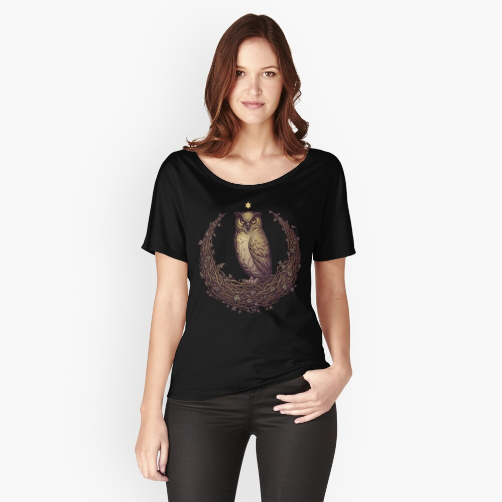 Eule Hedera Mond Loose Fit T-Shirt