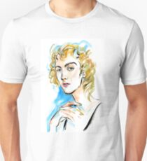 fashion #5: girl with curly blond hair and green eyes Unisex T-Shirt