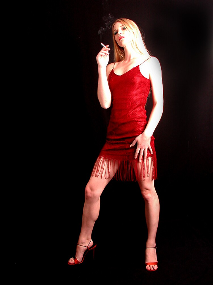 red dress ___2 by jim painter