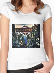 The Great Smoky Mountains Swamp Women's Fitted Scoop T-Shirt