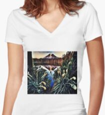 The Great Smoky Mountains Swamp Women's Fitted V-Neck T-Shirt