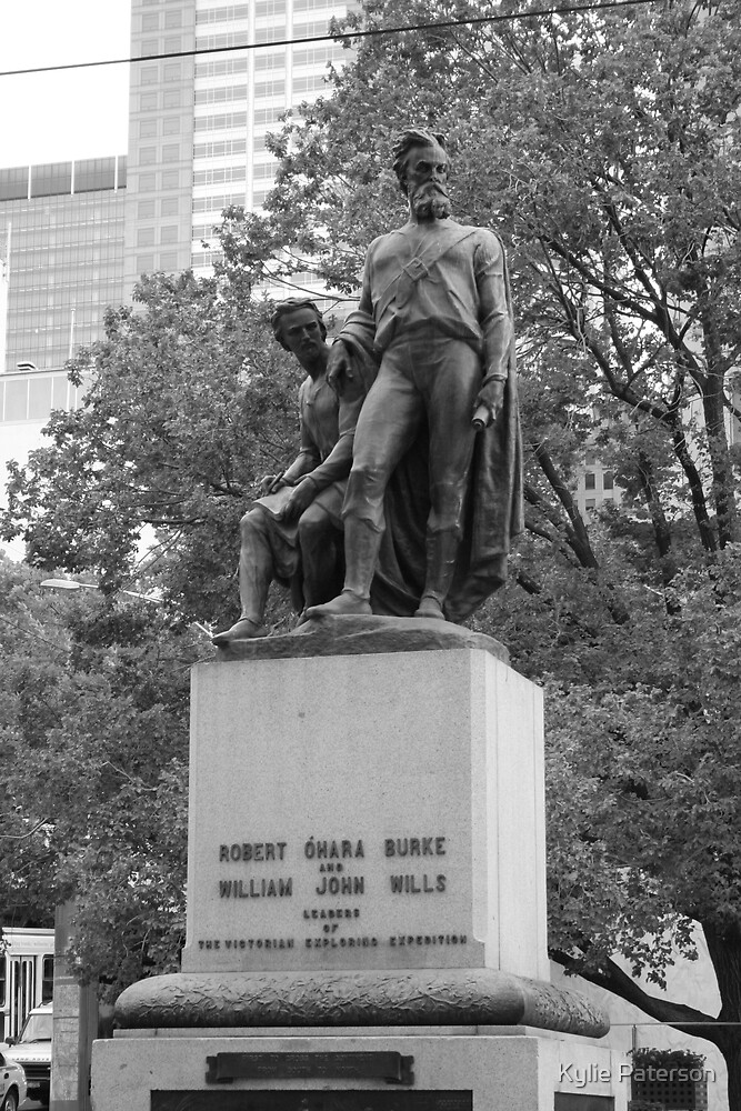 Burke and Wills Statue by Kylie Paterson