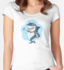 Cute shark Women's Fitted Scoop T-Shirt