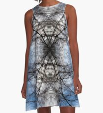 Saturnalian Structure #1 A-Line Dress
