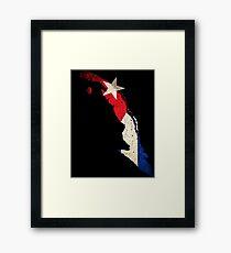 Cuba Flag / Map Framed Print