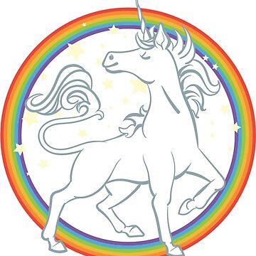 Sparkle Rainbow Unicorn by blackunicorn