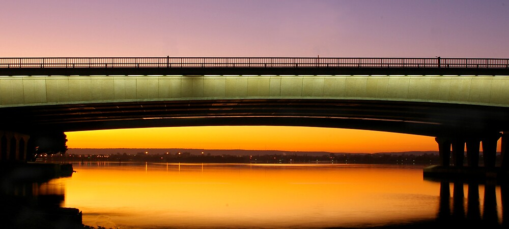 Narrows Bridge Perth Sunrise. by Elana Halvorson