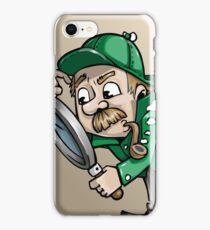 Funny cartoon detective iPhone Case/Skin