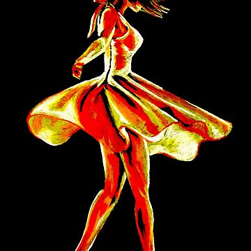 Spinning dancer in red by KateMarieLewis