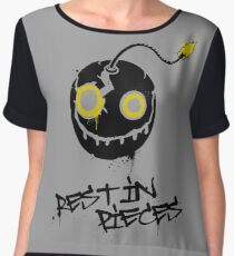Rest in pieces Women's Chiffon Top