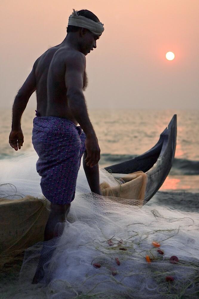 Keralan fisherman by Anthony Begovic