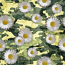 Daisies in camouflage suit by Adarve  Photocollage