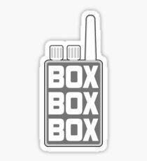 'Box Box Box' Formula 1 Design Sticker