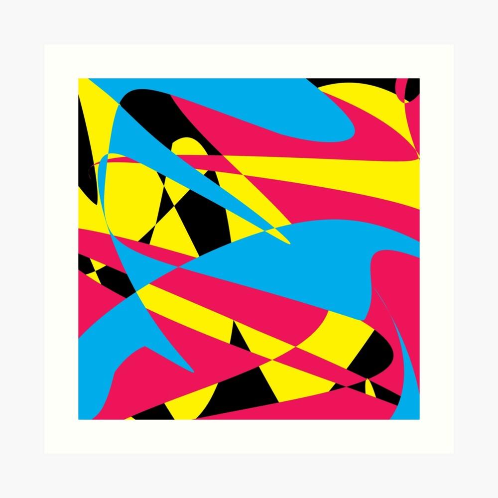 Tri Color Fashion by Julie Everhart Art Print