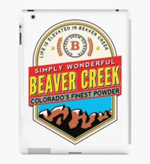 SKI BEAVER CREEK COLORADO SKIING EAGLE COUNTY SNOWBOARD HIKING CLIMBING BIKING 4 iPad Case/Skin