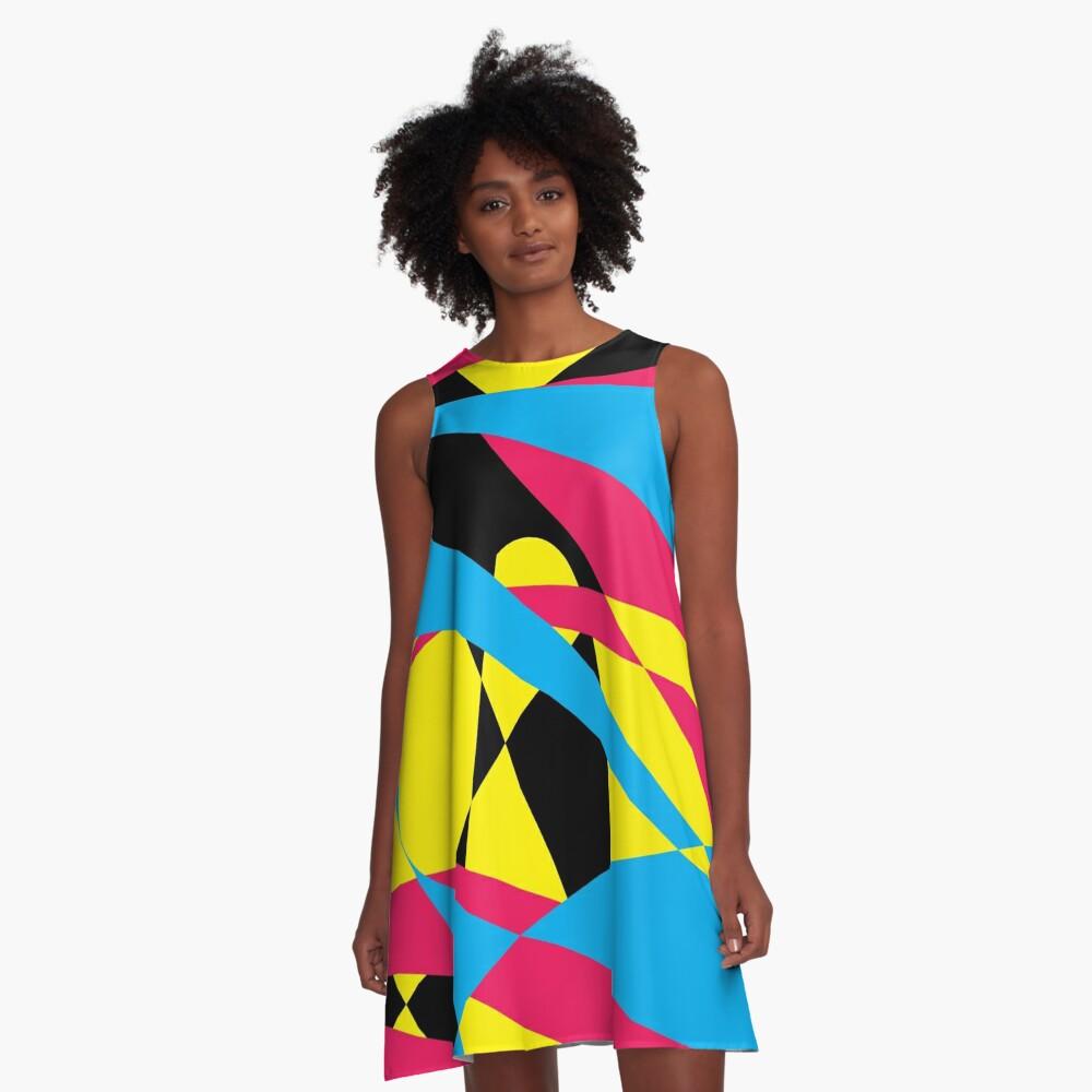 Tri Color Fashion by Julie Everhart A-Line Dress