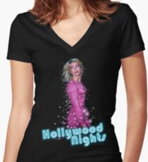 Olivia Newton-John - Hollywood NIghts Women's Fitted V-Neck T-Shirt