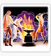 Aule's forges (Greek Mythology Style) Sticker