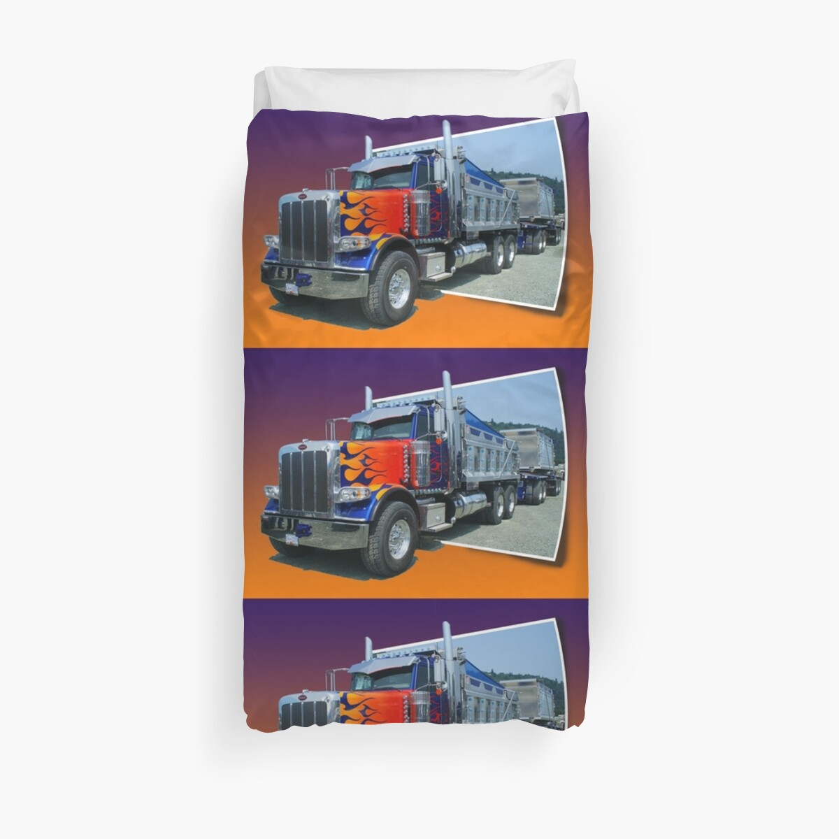 Out of picture peterbilt dump truck duvet covers by rharrisphotos redbubble - Dump truck twin bed ...