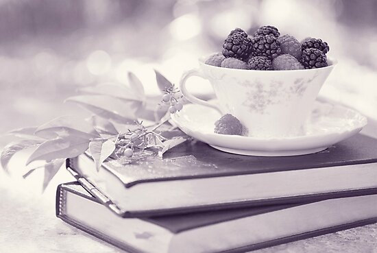Fruity Tea bw by Tracy Jones