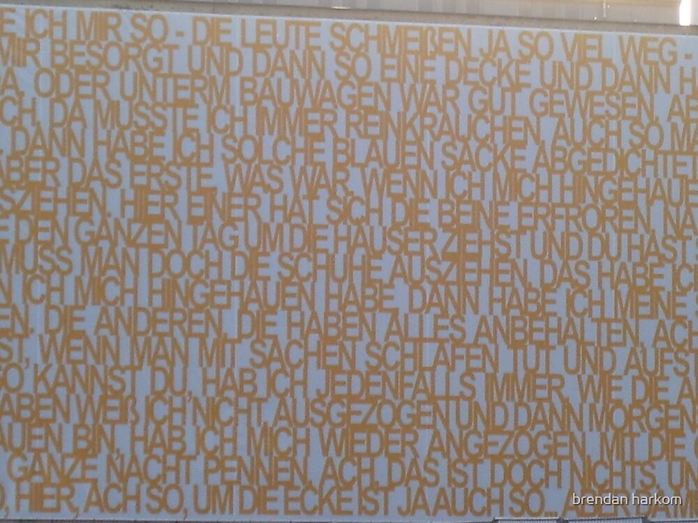 Wall Of Words by brendan harkom