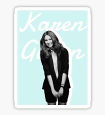 Karen Gillan blue Sticker
