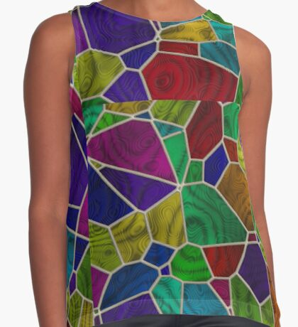 Stained Glass Design by Julie Everhart Sleeveless Top