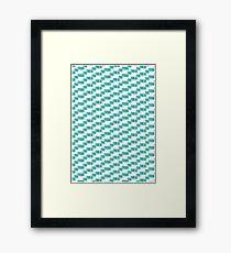 Green Blocks Framed Print