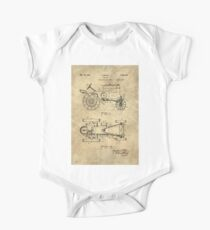 Antique Tractor blueprint patent drawing plan from 1929, Industrial farmhouse One Piece - Short Sleeve