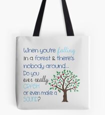 Falling In A Forest Tote Bag