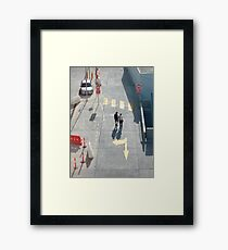 pedestrian crossing Framed Print