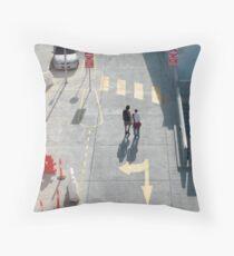 pedestrian crossing Throw Pillow