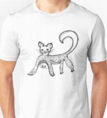 Cave Cat watercolour T-Shirt