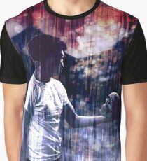 Starring at a Skull Graphic T-Shirt