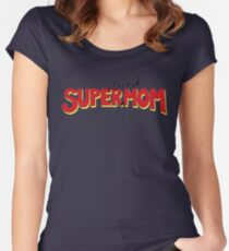 Super(tired)Mom Women's Fitted Scoop T-Shirt
