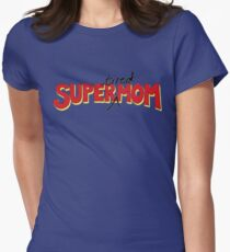 Super(tired)Mom Womens Fitted T-Shirt