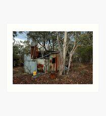 miners hut on Airley Turret Art Print